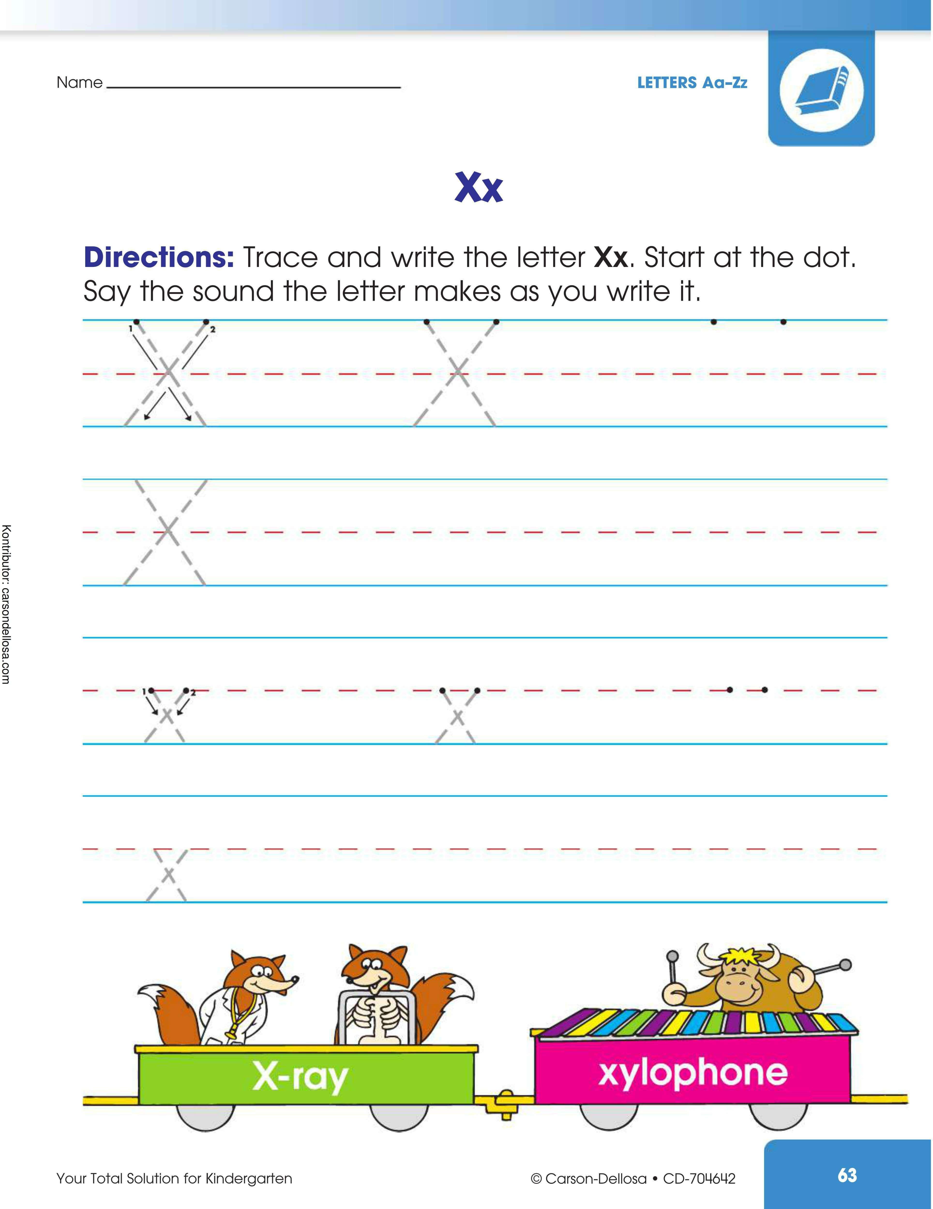 """Belajar Mengenal dan Menulis Huruf """"X"""" Besar dan """"x"""" Kecil"""
