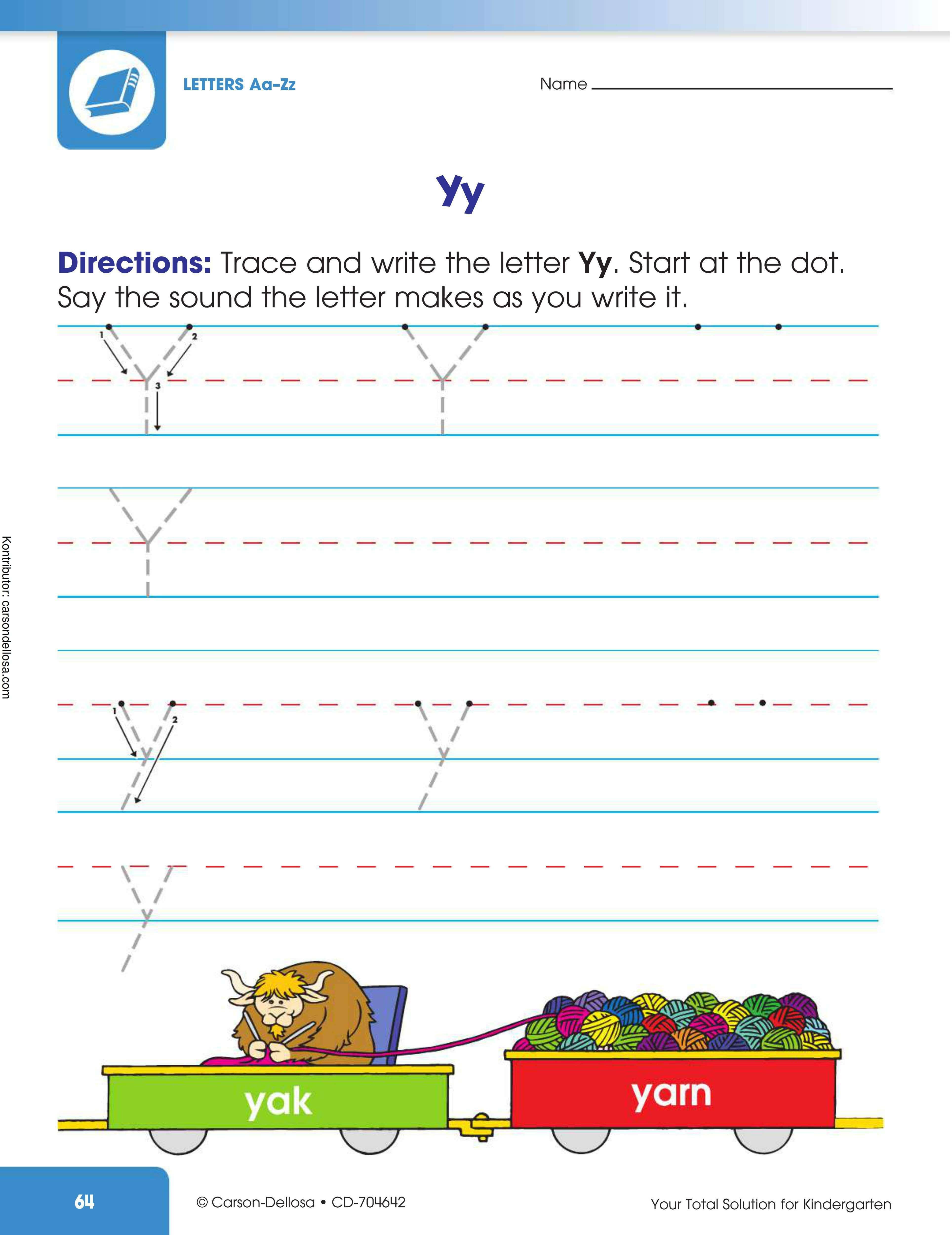 """Belajar Mengenal dan Menulis Huruf """"Y"""" Besar dan """"y"""" Kecil"""