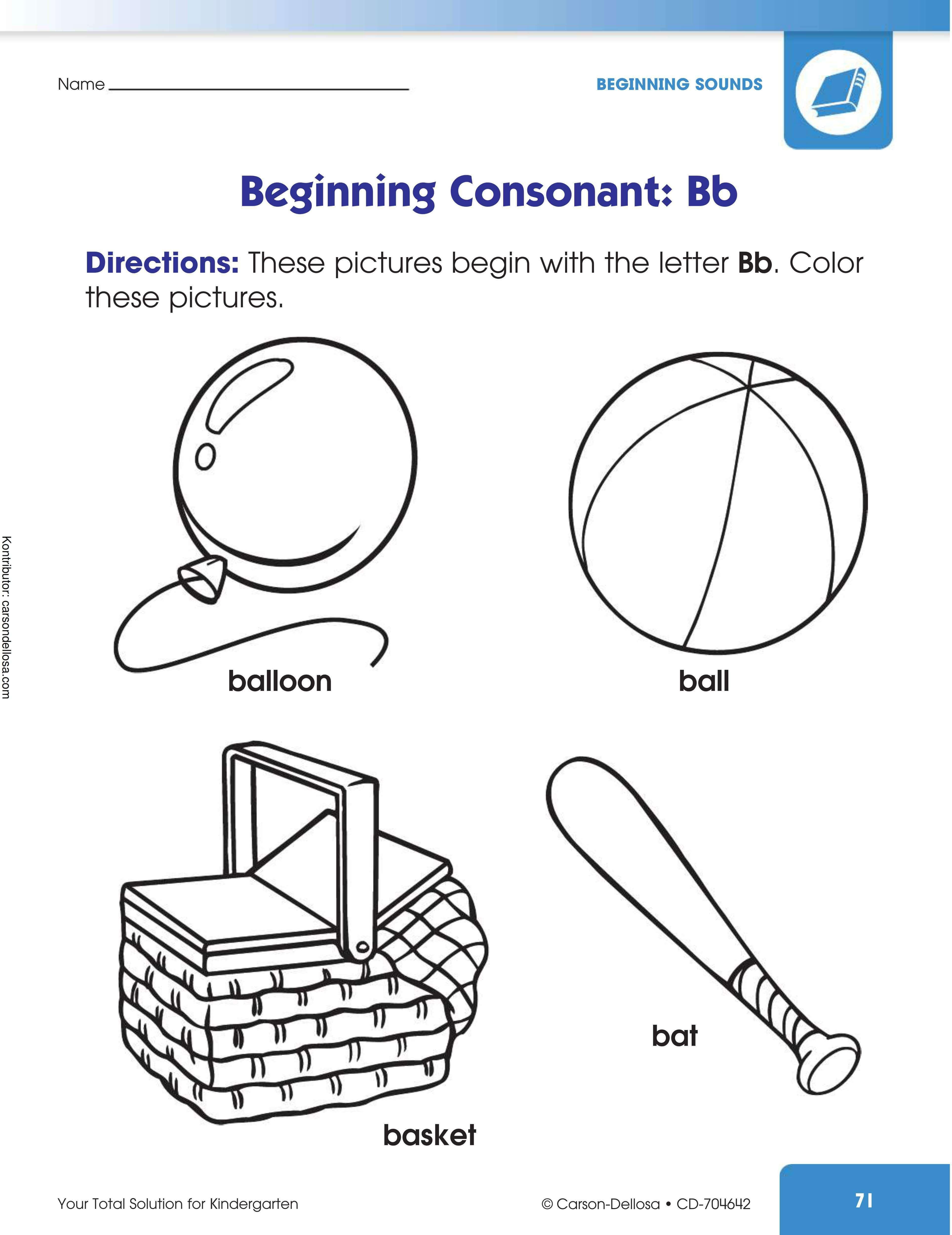 """Belajar Mengenal dan Mewarnai Gambar Berawalan """"Bb"""""""