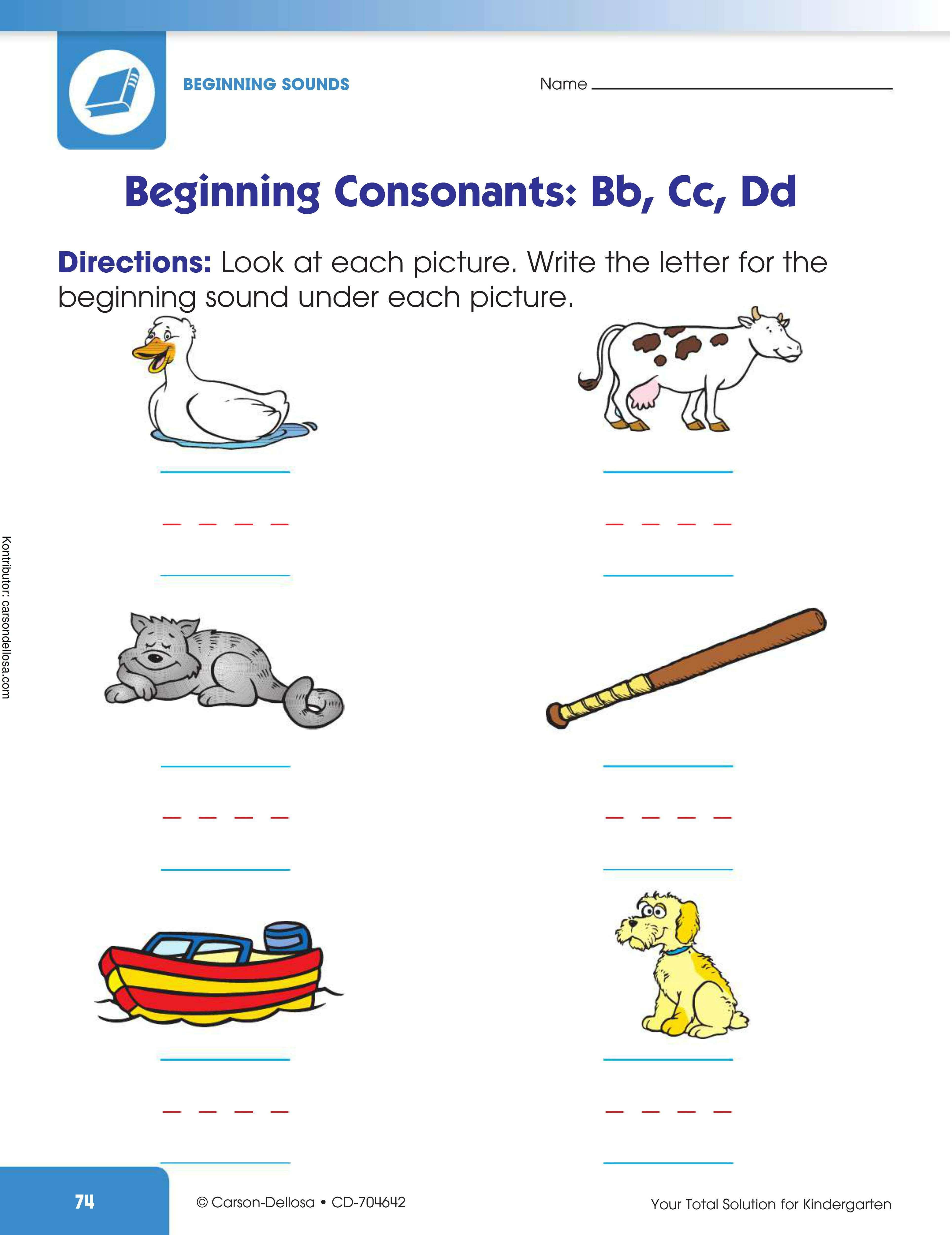 """Belajar Mengenal Konsonan Huruf """"Bb, Cc, Dd"""""""