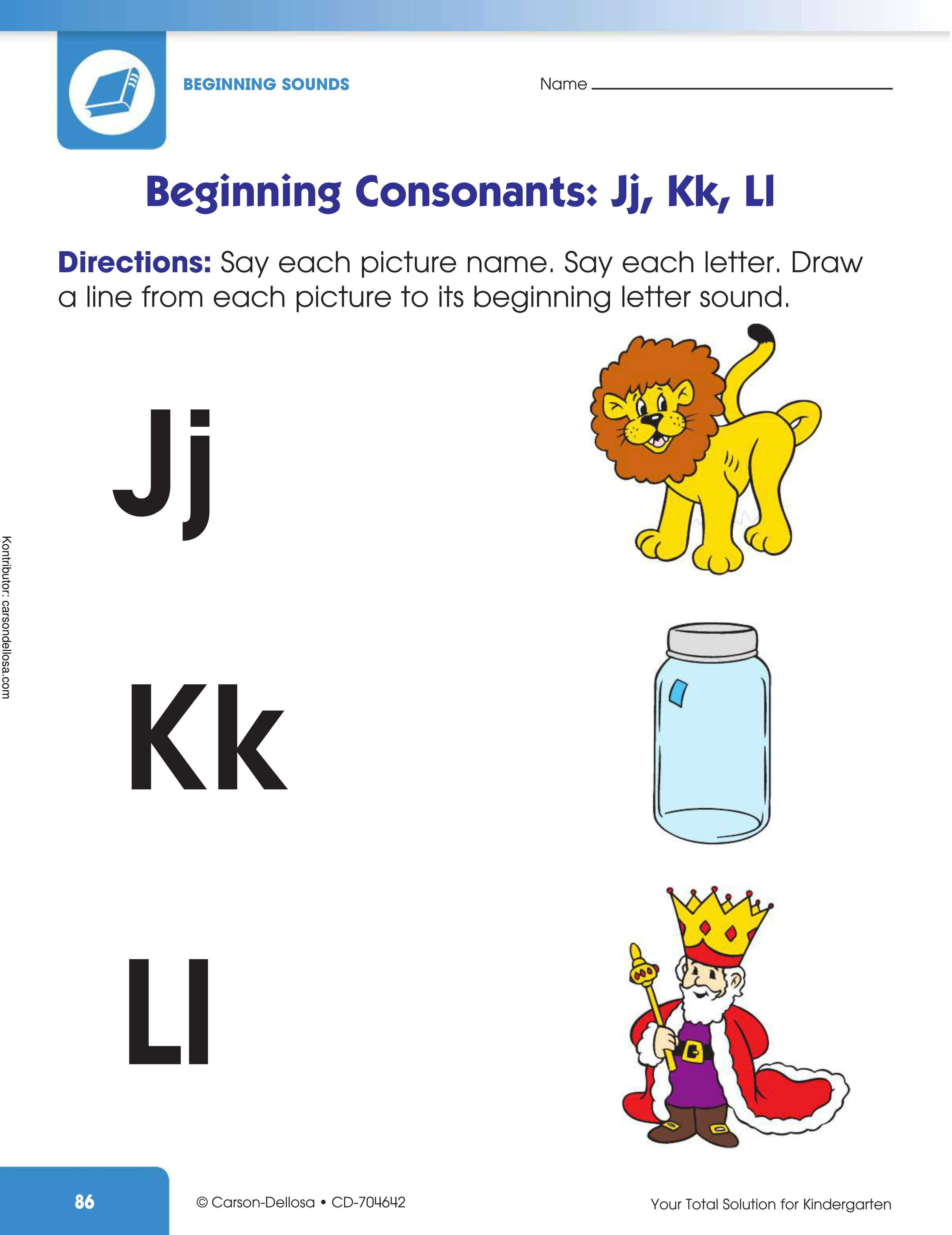 Belajar Mengenal Huruf Konsonan Awalan Jj, Kk, Ll
