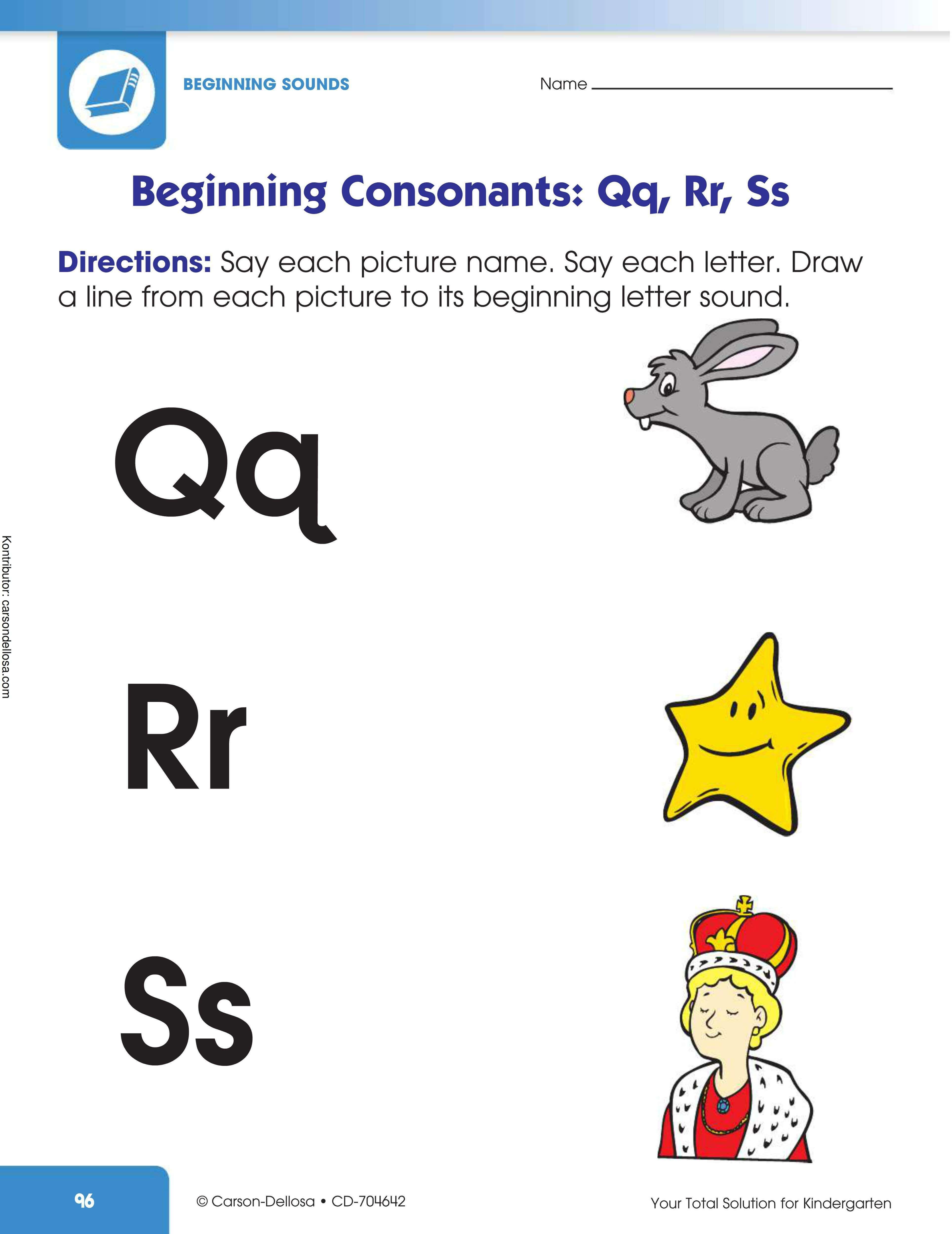 """Belajar Mengenal Huruf Konsonan Awalan """"Qq, Rr, Ss"""""""
