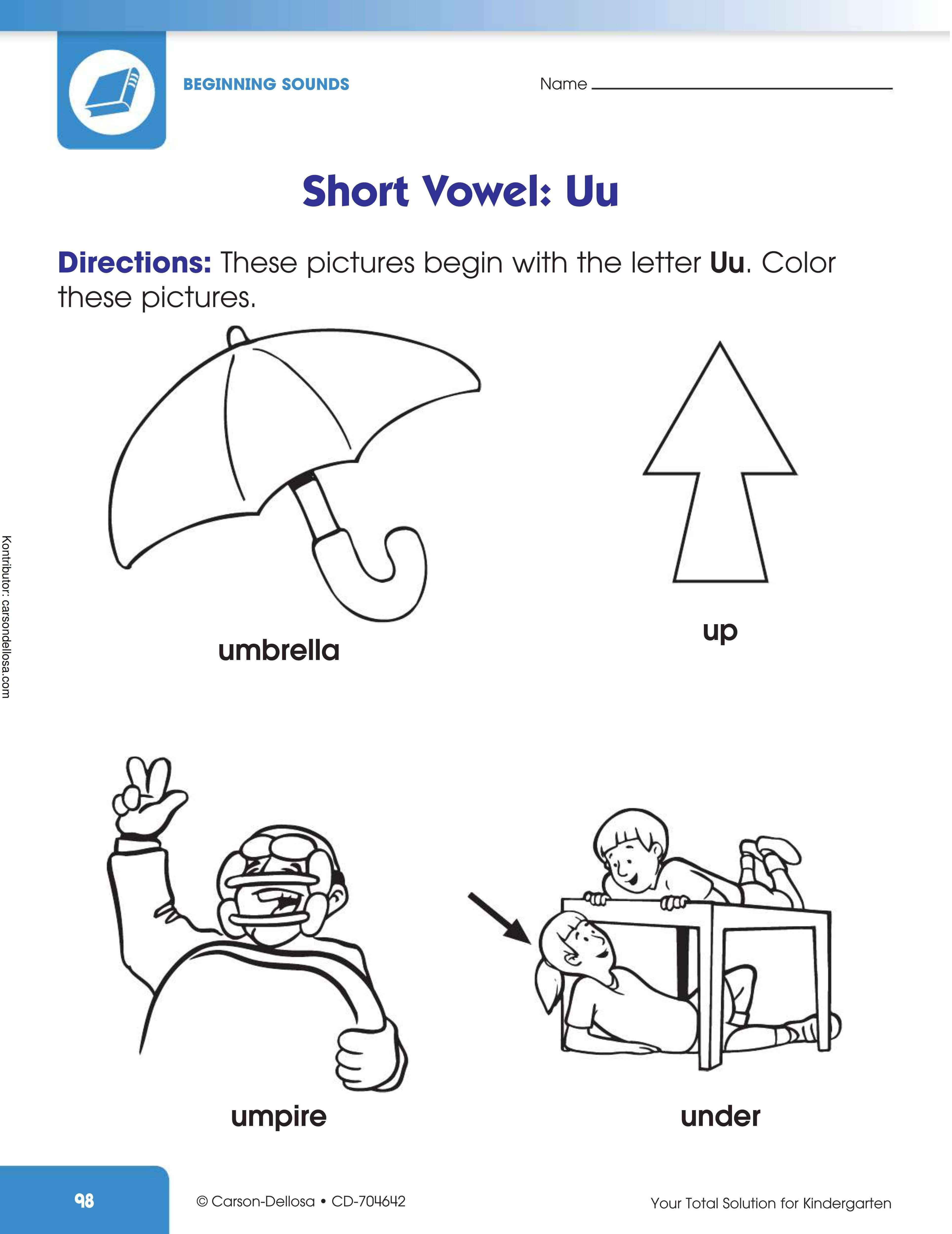 """Belajar Mengenal Huruf Vokal Awalan """"Uu"""""""