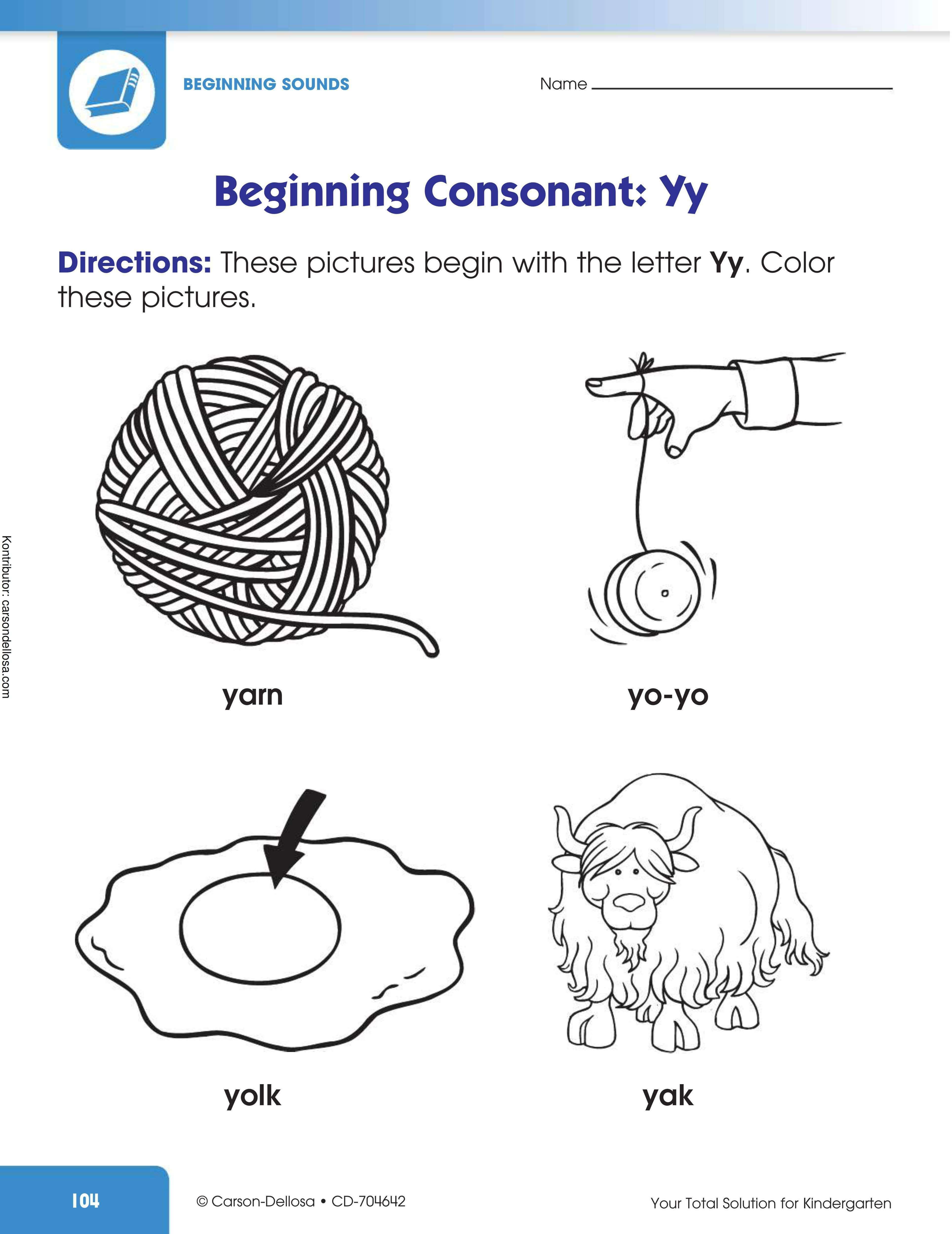 """Belajar Mengenal Huruf Konsonan Awalan """"Yy"""""""