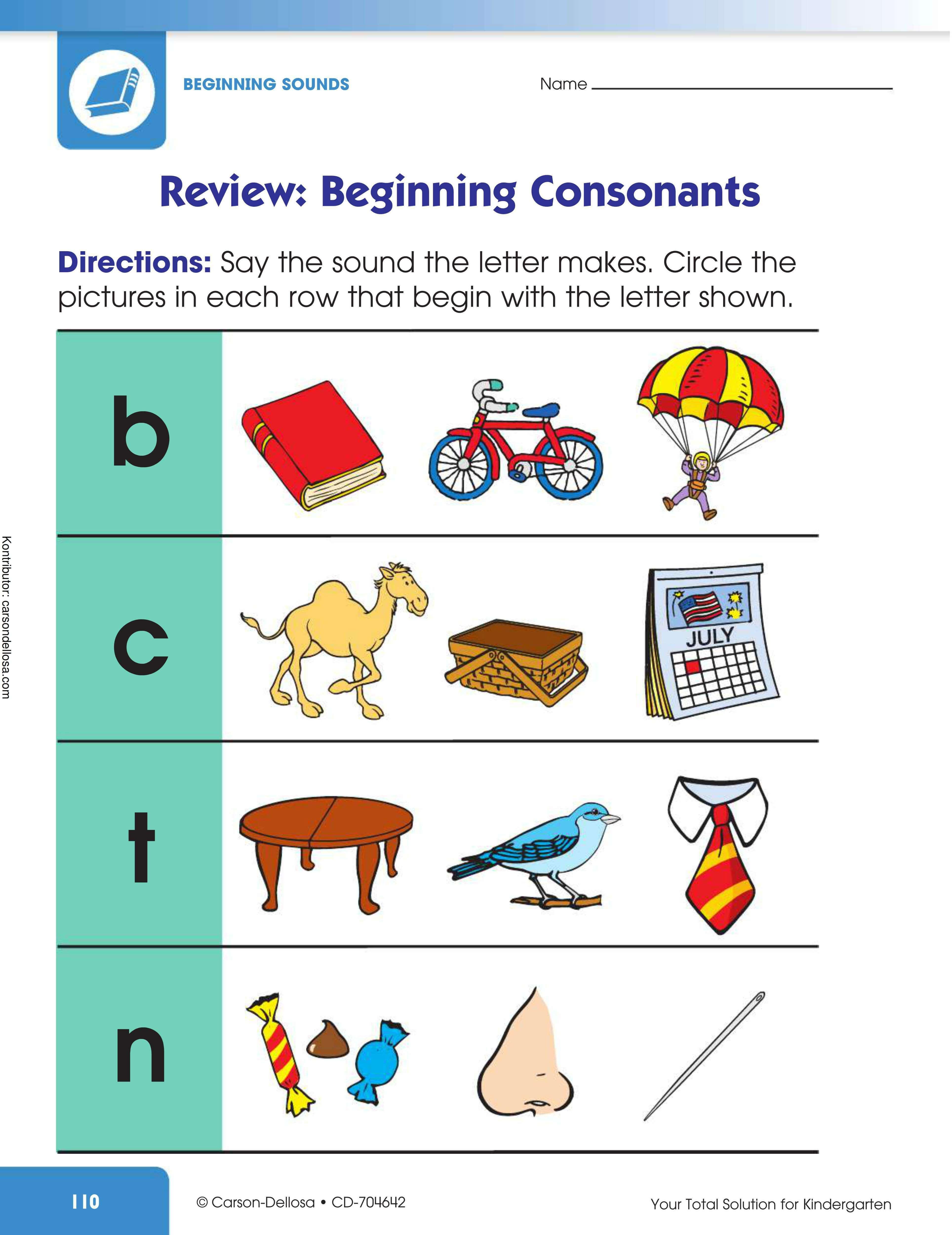 Belajar Mengenal Gambar yang Berawalan Huruf Konsonan (4)
