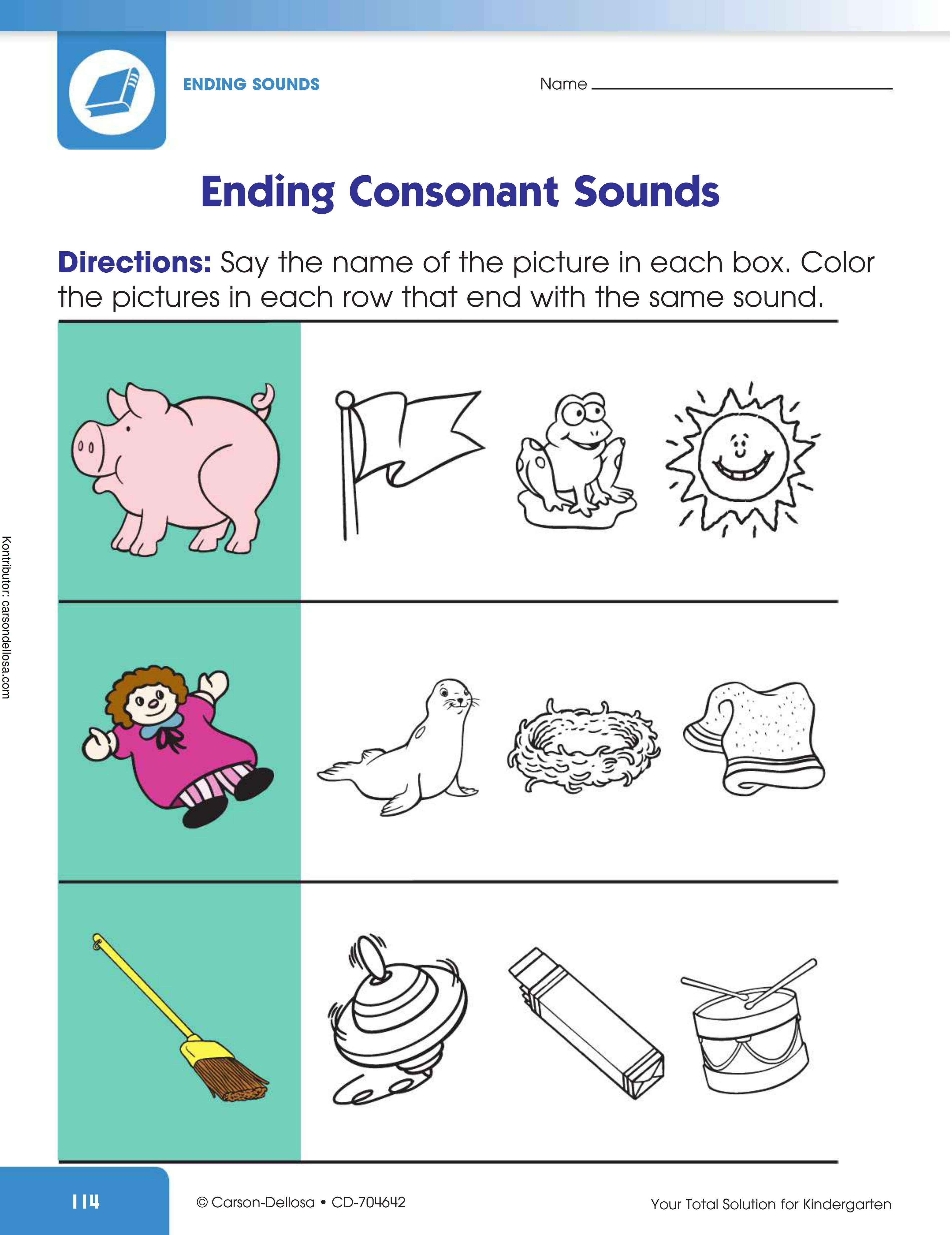 Belajar Mengenal Bunyi Akhiran Huruf Konsonan