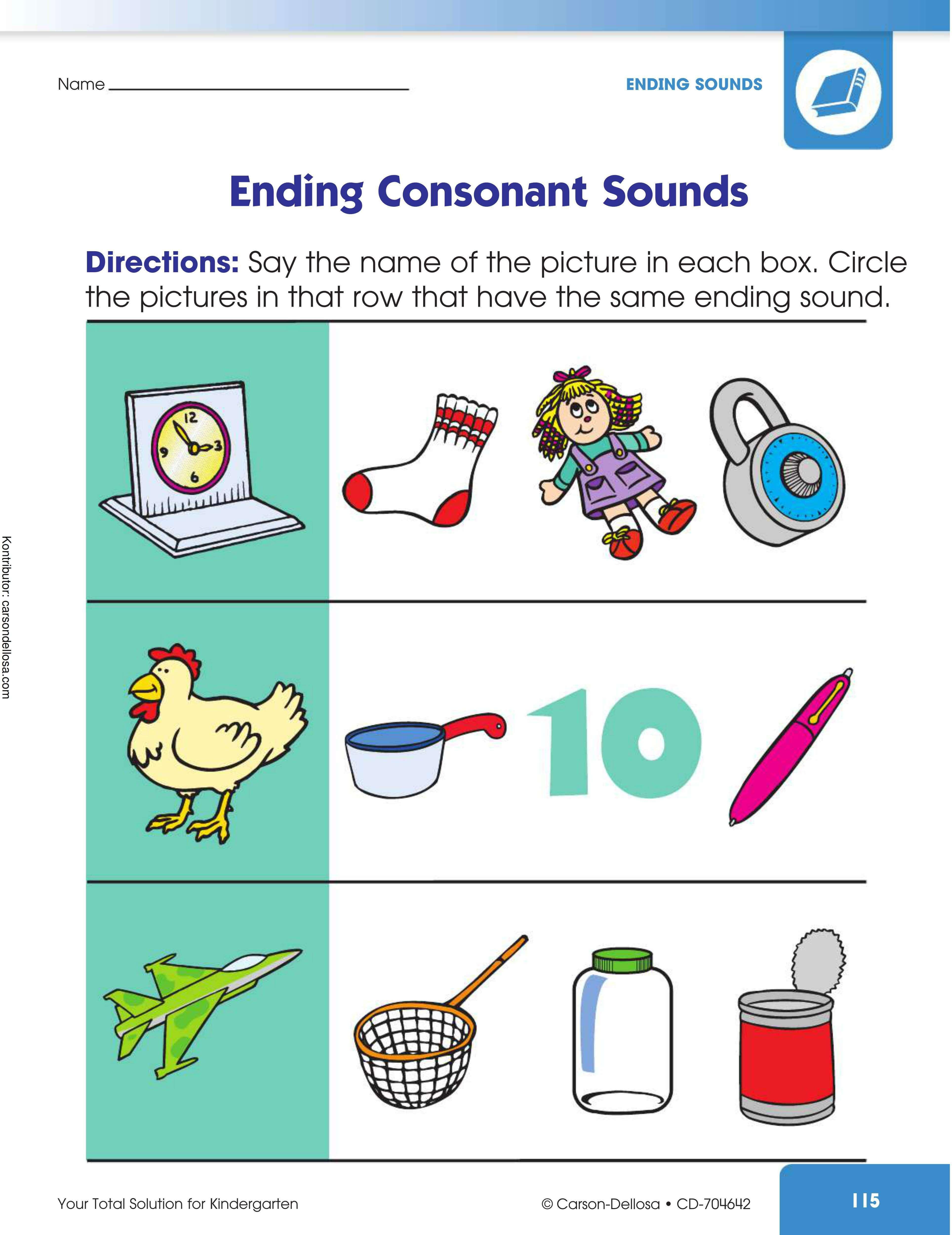 Belajar Mengenal Bunyi Akhiran Huruf Konsonan (2)