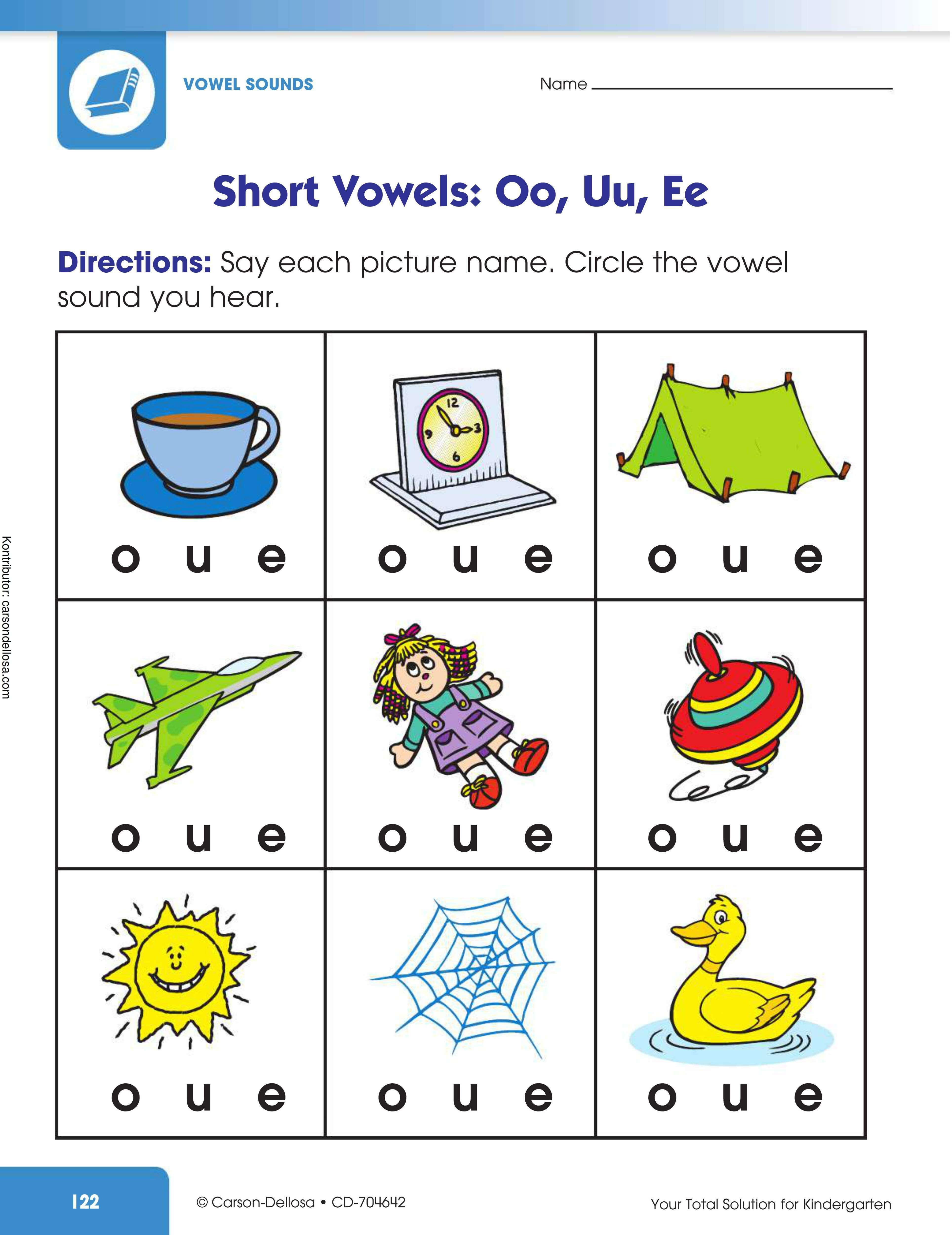 Belajar Mengenal Bunyi Huruf Vokal Pendek: Oo, Uu, Ee