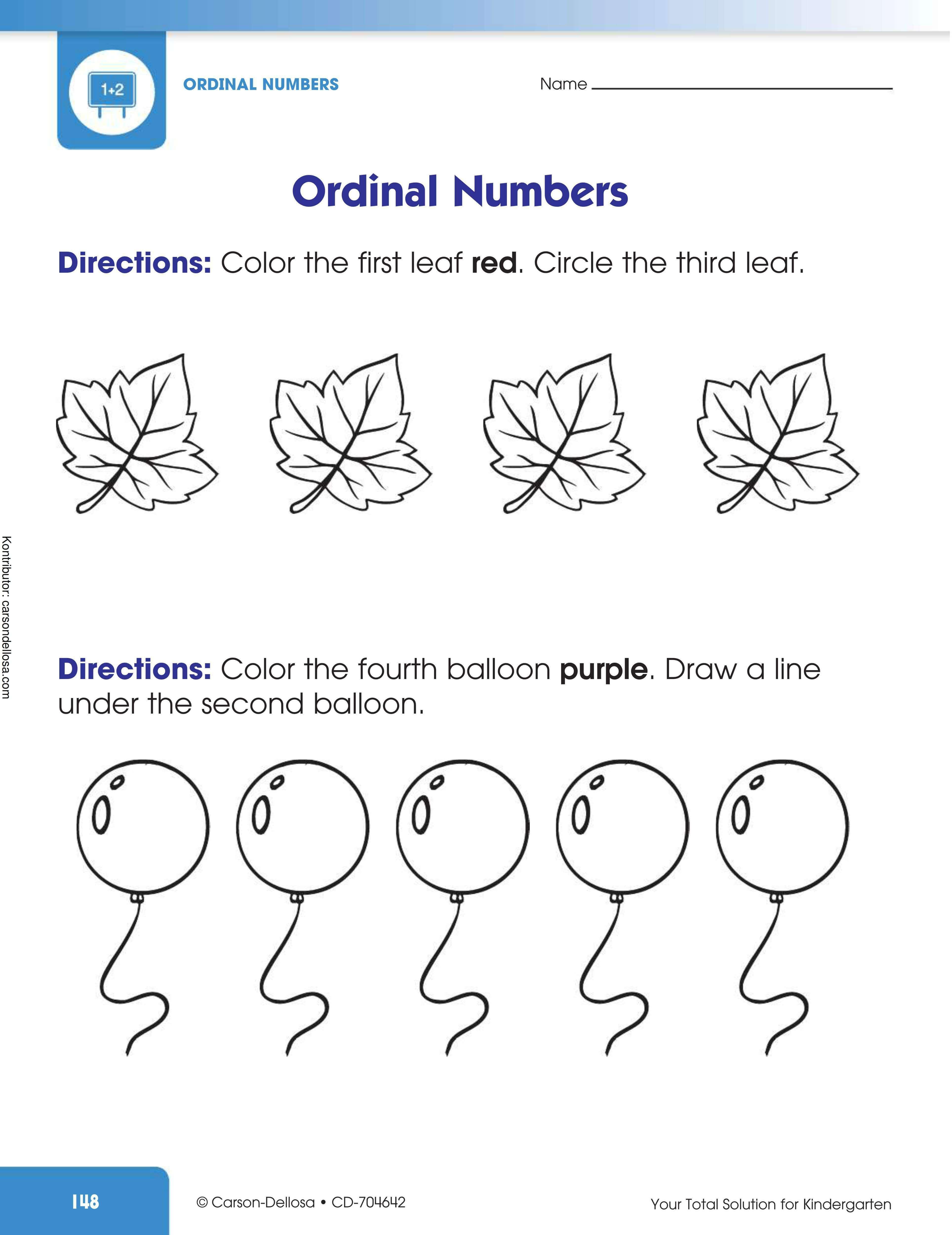 Belajar Mengenal Ordinal Numbers