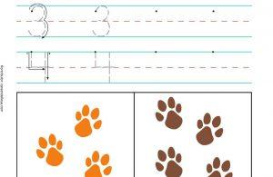 Menulis dan Menghitung Angka 3 dan 4