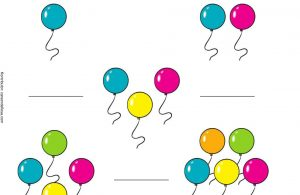 Menghitung Jumlah Balon dan Menulis Sesuai Jumlahnya