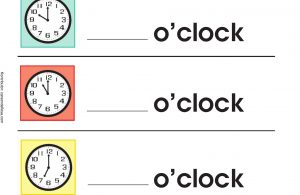 Mengenal Waktu dan Menulis Angka Jam