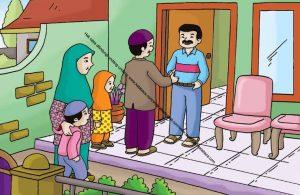 Gambar (10) Bertamu dan Silaturahim ke Rumah Orang Lain