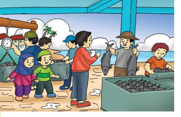 Gambar (10) Membeli Ikan Segar di Pasar Ikan