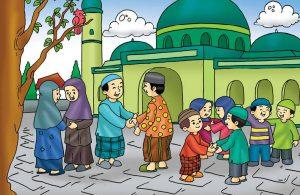Gambar (12) Bersalam-salam di Hari Raya Idul Fitri