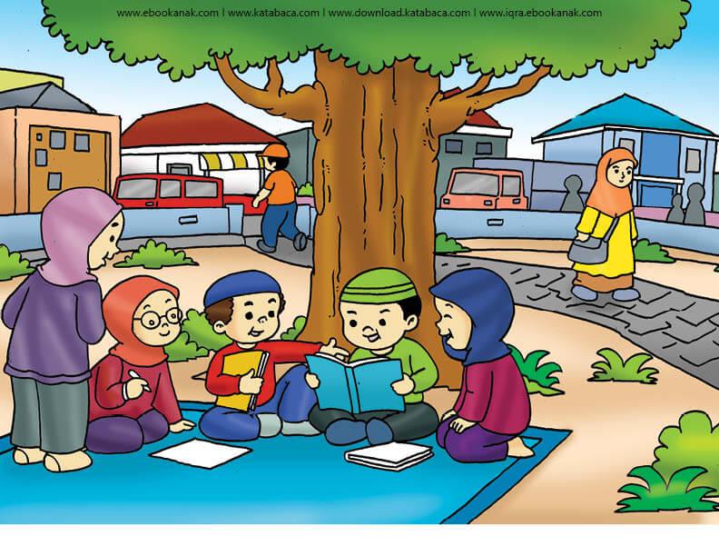 Gambar 15 Belajar Kelompok Bersama Ebook Anak Ebook Anak
