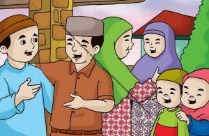 Gambar (25) Silaturahim dengan Tetangga