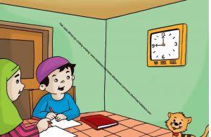 Gambar (26) Belajar Mengerjakan Tugas Sekolah