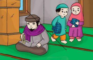 Gambar (28) Berzikir dan Berdoa Selesai Shalat