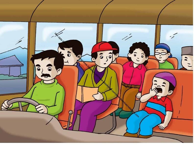 Gambar (42) Mengantuk dan Menguap Ketika Naik Bus