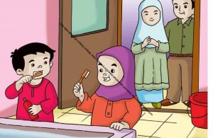 Gambar (44) Rajin Menggosok Gigi Setiap Sehari