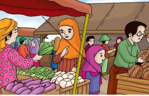 Gambar (49) Ibu Membeli Sayuran di Pasar