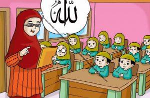 Gambar (52) Mendengarkan Penjelasan Ibu Guru saat Belajar