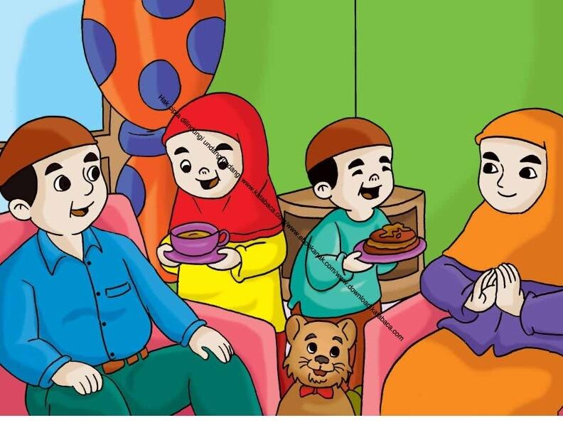Gambar 54 Menghidangkan Makanan Dan Minuman Untuk Ayah Dan Ibu Ebook Anak