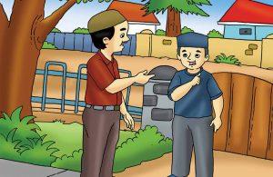 Gambar (6) Menjawab dengan Jelas Saat Ditanya Orang Lain