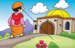 Gambar (64) Pergi Shalat Lima Waktu Berjamaah ke Masjid