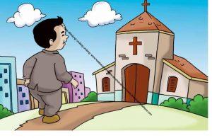 Gambar (65) Orang Kristen Pergi ke Gereja pada Hari Minggu