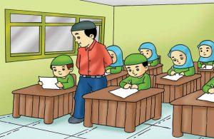 Gambar (7) Anak yang Jujur Tidak Mencontek Saat Ulangan