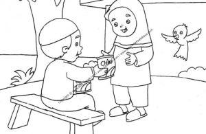 Gambar Dua Anak Sedang Saling Berbagi Makanan Ringan 9 Ebook Anak
