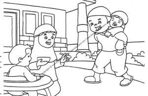 Gambar Ibu sedang Menyuapi Anaknya Makan Bubur (19)
