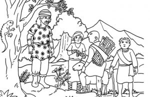 Gambar Mewarnai Asmaul Husna (2) Kisah Tiga Orang Bani Israil