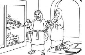 Gambar Mewarnai Asmaul Husna (28) Thalhah Sang Dermawan