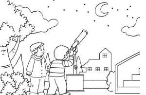 Gambar Mewarnai Asmaul Husna (55) Kenapa Cahaya Bulan Tidak Seterang Matahari