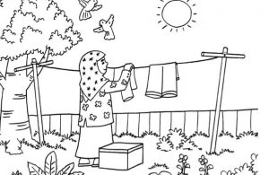 Gambar Mewarnai Asmaul Husna (56) Manfaat Sinar Matahari
