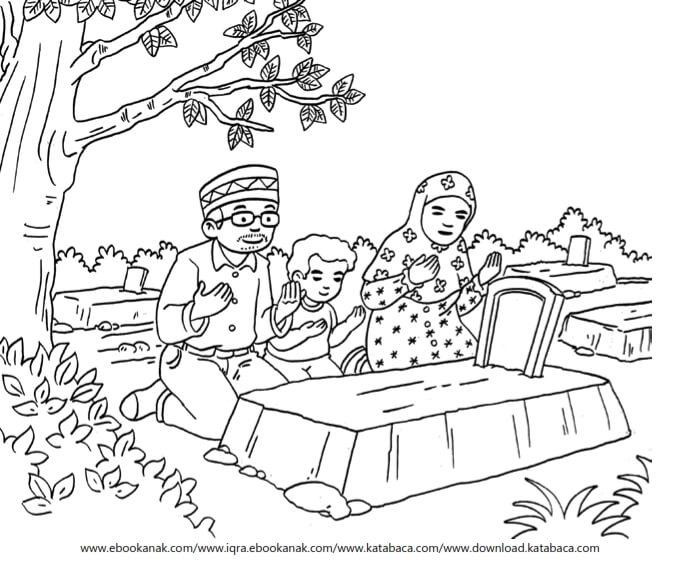 Gambar Mewarnai Asmaul Husna (59) Tanda-Tanda Kematian