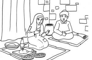 Gambar Mewarnai Asmaul Husna (9) Hadiah Langsung dari Allah