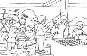 Gambar Mewarnai Suasana di Pasar Ikan (10)
