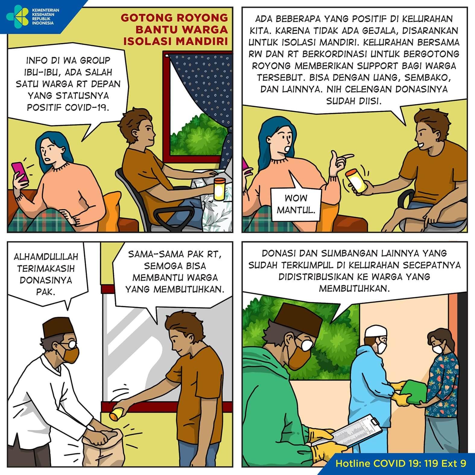 Gotong Royong Bantu Warga Isolasi Mandiri
