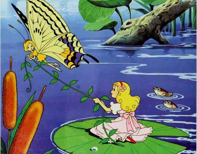 Ikan dan Kupu Kupu Menolong Thumbelina