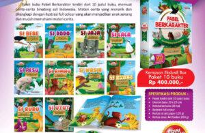 Jual 10 Buku Paket Fabel Berkarakter Seri Binatang Asli Indonesia