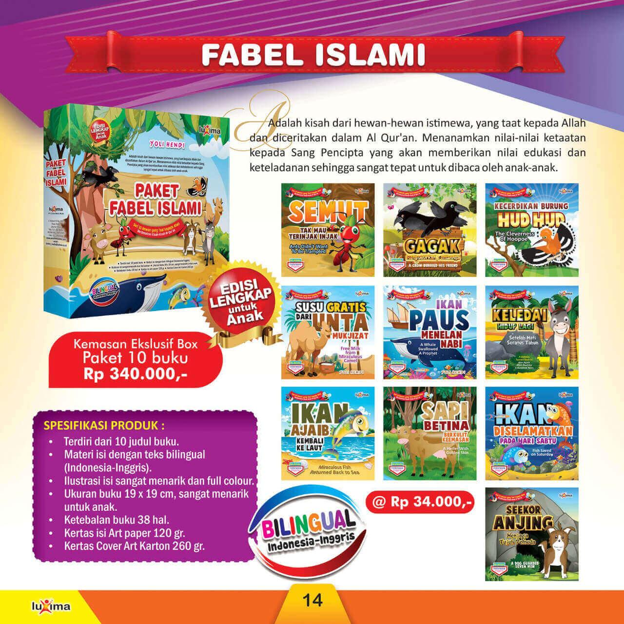 Jual 10 Buku Paket Fabel Islami