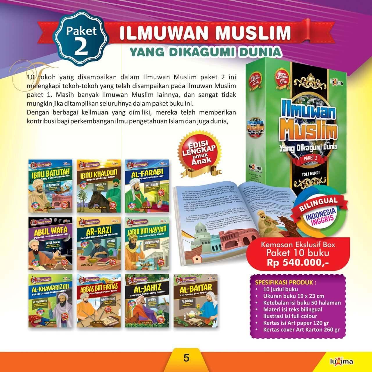 Jual Buku Paket 2 Ilmuwan Muslim yang Dikagumi Dunia
