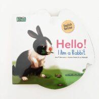 Jual Buku Seri Dunia Binatang Hello I am a Rabbit English version Boardbook