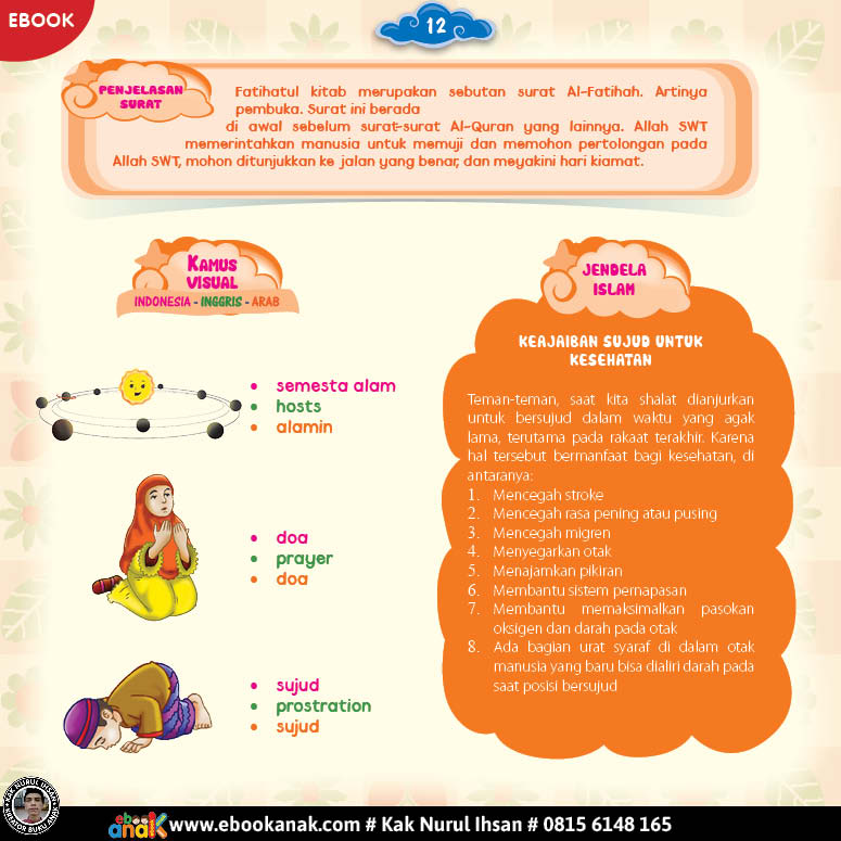 Juz amma for kids, Penjelasan Surat Al-Fatihah (2)