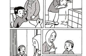 Komik Adab Nabi Muhammad, Berwudhu Setelah Bangun Tidur