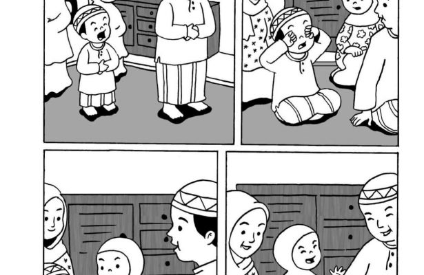 Komik Adab Nabi Muhammad, Menutup Mulult Saat Menguap